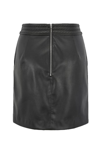 HUGO BOSS - Bawaisty Leather Skirt Svart