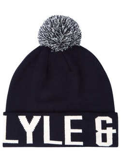 LYLE & SCOTT - Knit Wording Logo Hat Blå