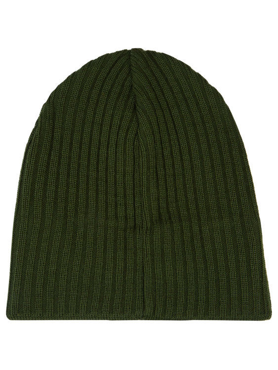 LYLE & SCOTT - Knitted Ribbed Beanie Grön
