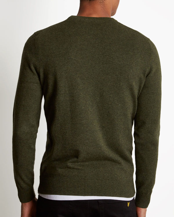 2efd436ac07e6a LYLE   SCOTT - Cotton Merino Crewneck Jumper Green - Home of Brands