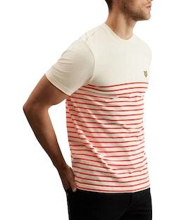 LYLE & SCOTT - Breton Stripe T-shirt Röd Vit Randig