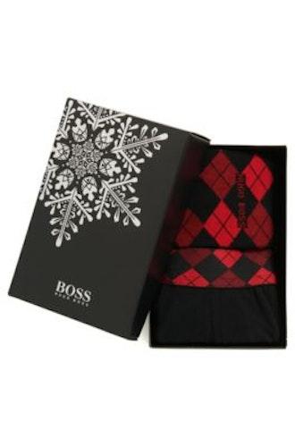 HUGO BOSS - Trunk Sock Gift Svart Röd