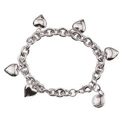 SNÖ OF SWEDEN - Card Charm Heart Bracelet Silver