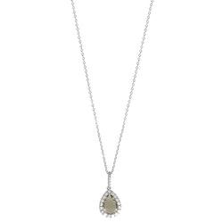 SNÖ OF SWEDEN - Three Pendant Necklace Silver/Grå