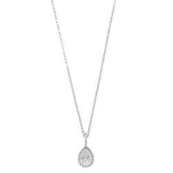 SNÖ OF SWEDEN - Three Pendant Necklace Silver/Clear