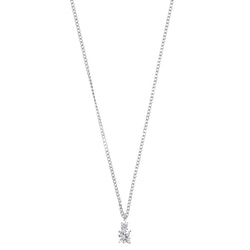 SNÖ OF SWEDEN - Duo Small Pendant Necklace Silver/Clear