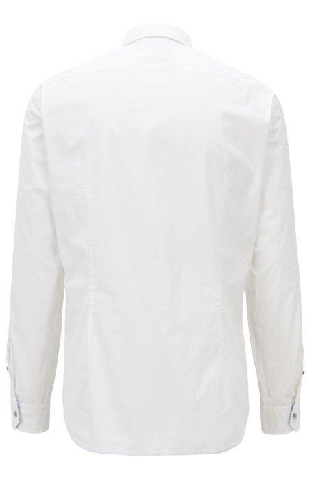 HUGO BOSS - Biado Regular Fit Stretch Shirt Vit