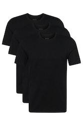HUGO BOSS - T-shirt Regular Fit Round Neck 3P Svart