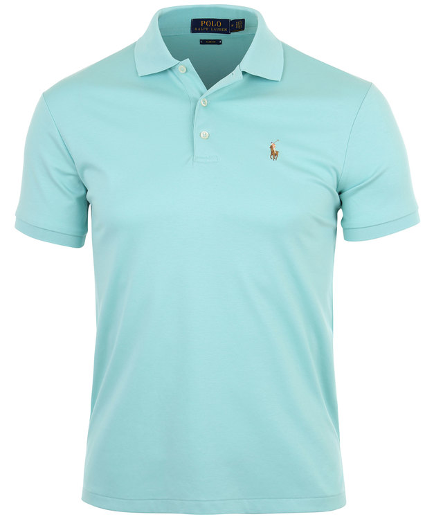 POLO RALPH LAUREN - Slim Fit Short Sleeve Pima Mesh Polo Turkos