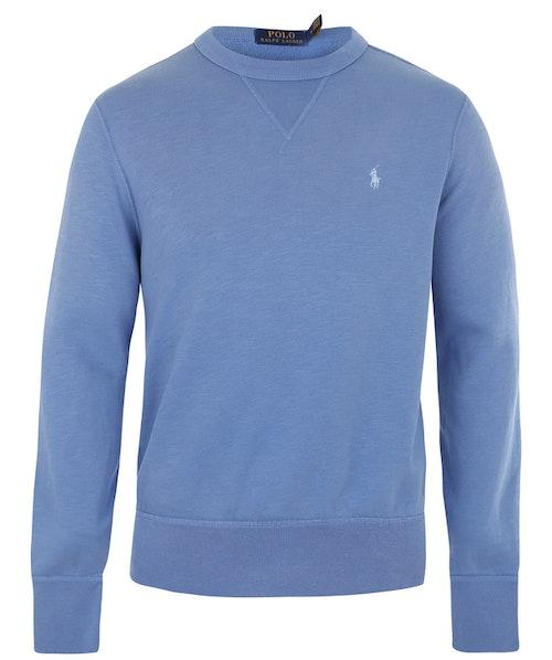 POLO RALPH LAUREN - Long Sleeve Knit College Sweater Blå