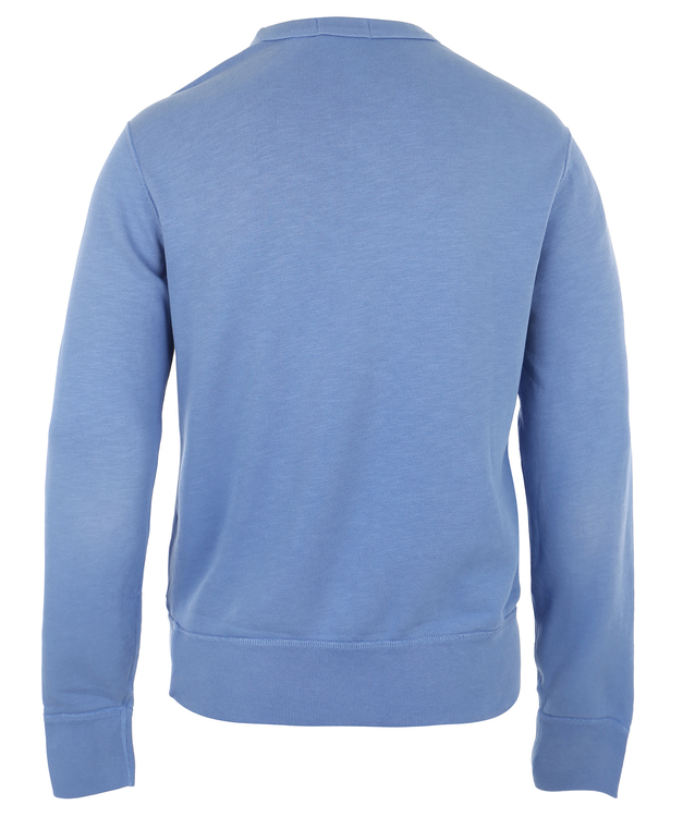 POLO RALPH LAUREN - Long Sleeve Knit College Sweater Blå