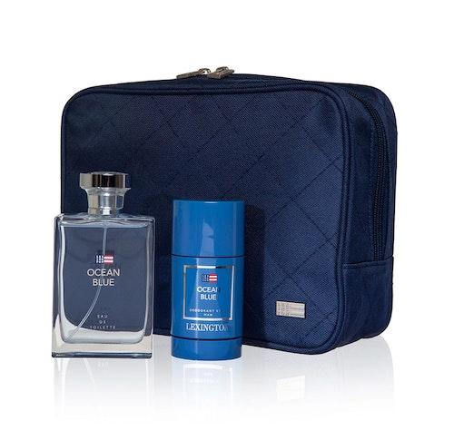 LEXINGTON - Holiday Cosmetic Bag Man Ocean Blue