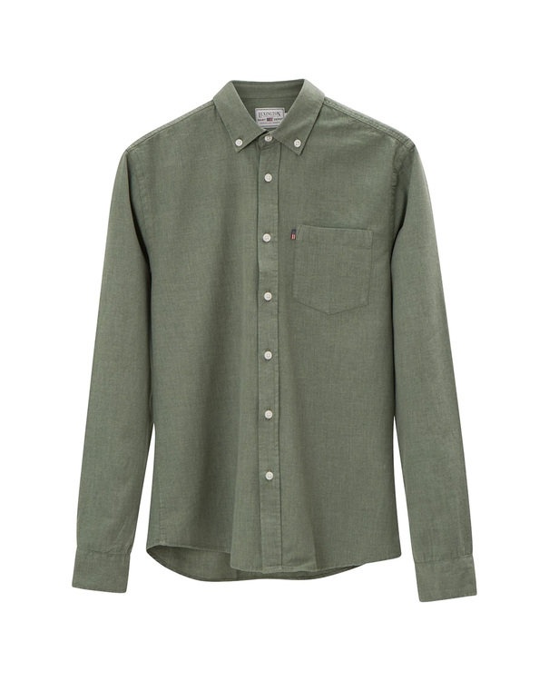 LEXINGTON - Peter Lt Flannel Shirt Grön