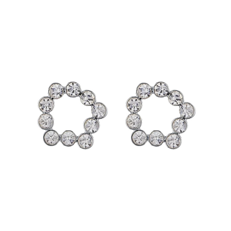 SNÖ OF SWEDEN - Kairo Small Round Earring Silver