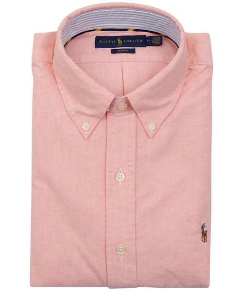POLO RALPH LAUREN - Slim Fit Long Sleeve Sport Shirt Rosa