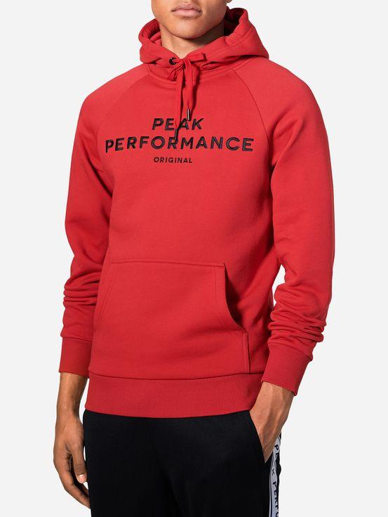 PEAK PERFORMANCE - Logo Hood Röd