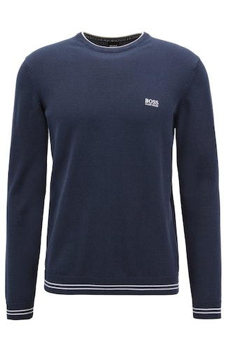 HUGO BOSS - Rime Round Neck Sweater Blå