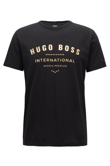 HUGO BOSS - Tee 1 Crew Neck T-shirt Svart