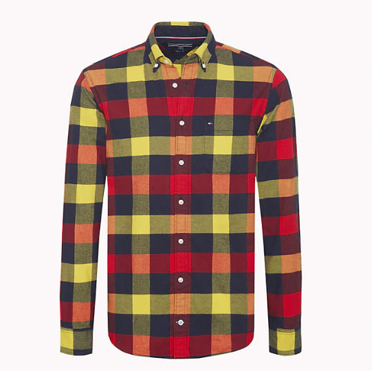 TOMMY HILFIGER - Buffalo Check Flannel Shirt Mönstrad