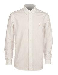 POLO RALPH LAUREN - Slim Fit Long Sleeve Sport Shirt Vit