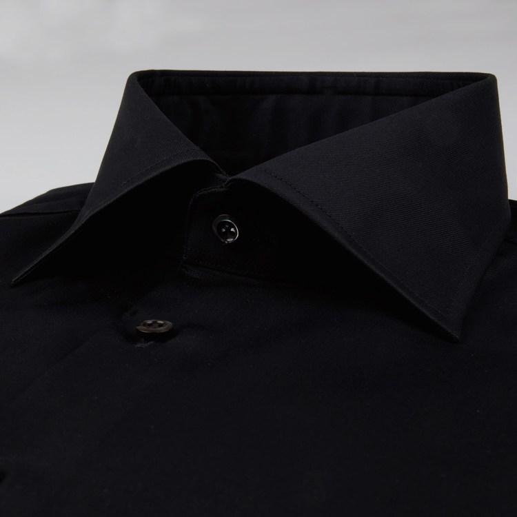 STENSTRÖMS - Slimline Twill Shirt Svart