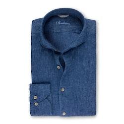STENSTRÖMS - Denim Blue Linen Shirt Blå
