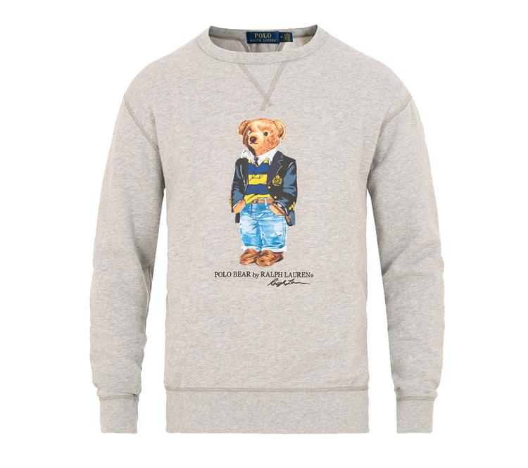 POLO RALPH LAUREN - Bear Sweater Crew Neck Grå