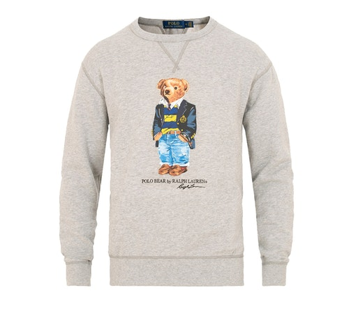 POLO RALPH LAUREN - Bear Sweater Crew Neck Grå