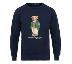 POLO RALPH LAUREN - Bear Sweater Crew Neck Blå