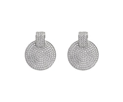SNÖ OF SWEDEN - Carrie Small Pendant Earring Silver