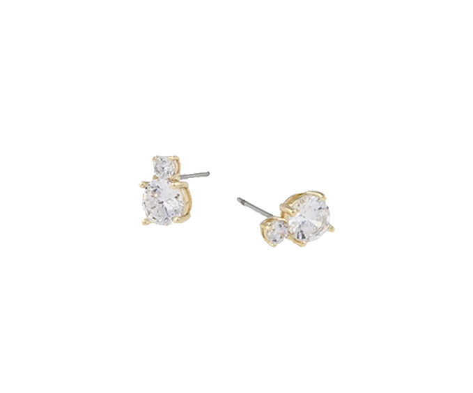 SNÖ OF SWEDEN - Duo Earring Guld