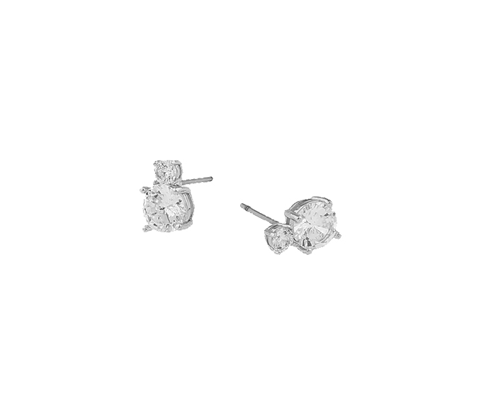 SNÖ OF SWEDEN - Duo Earring Silver