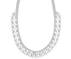 SNÖ OF SWEDEN - Chloé Strass Necklace Silver