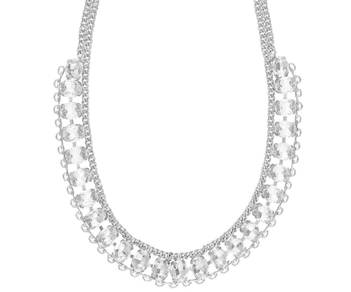 SNÖ OF SWEDEN - Chloé Strass Necklace Silver