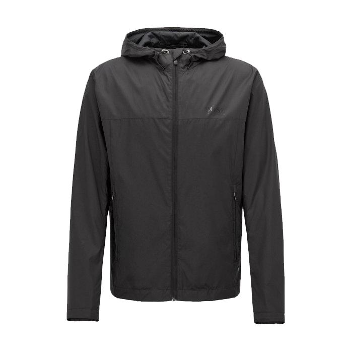HUGO BOSS - Jeltech Lightweight Water-Repellent Hooded Jacket Svart