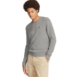 POLO RALPH LAUREN - Cotton Crewneck Jumper Grå