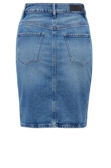 HUGO BOSS - Sierraville Slim-fit Skirt Blå