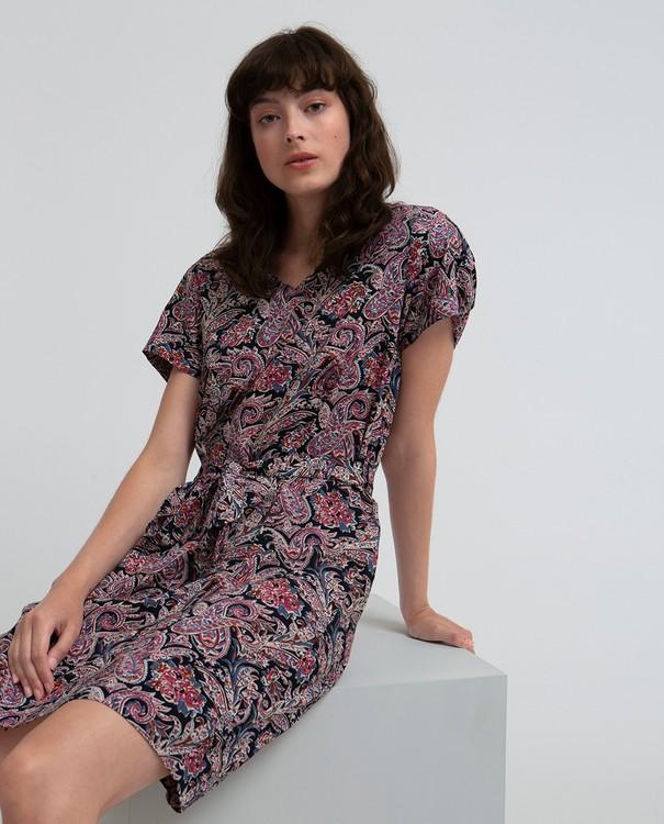 LEXINGTON - Kristina Dress Mönstrad