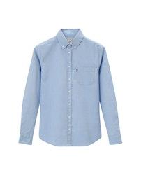 LEXINGTON - Sarah Oxford Shirt Blå