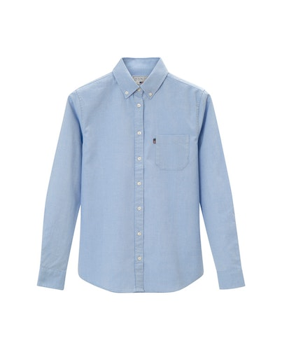 LEXINGTON - Sarah Oxford Shirt Blå