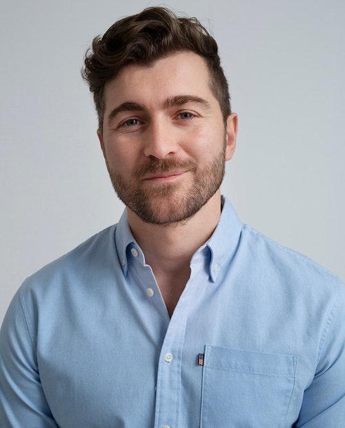 LEXINGTON - Kyle Oxford Shirt Blå
