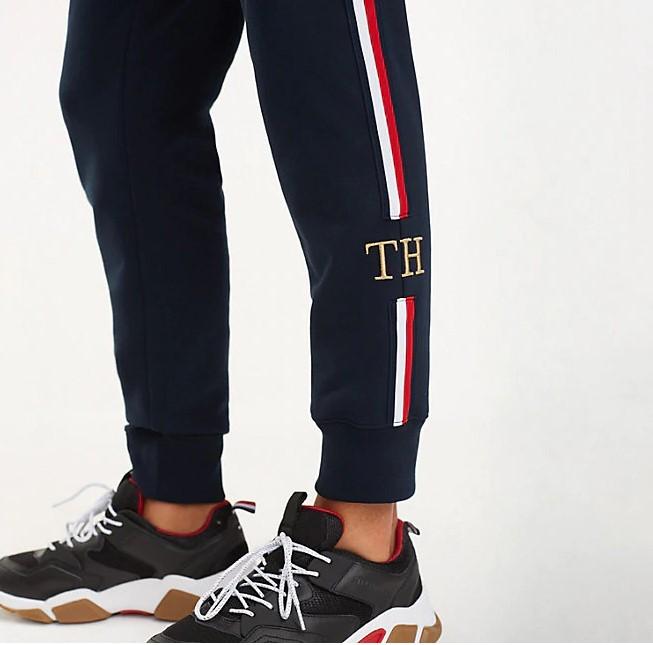 TOMMY HILFIGER - Icon Global Stripe Joggers Blå