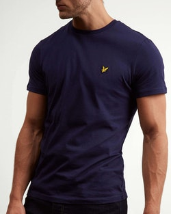LYLE & SCOTT - Crew Neck T-shirt Blå