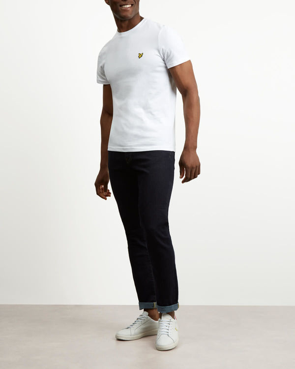 LYLE & SCOTT - Crew Neck T-shirt Vit