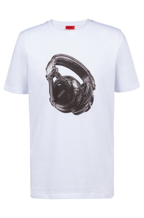 HUGO BOSS - Dusic Cotton T-shirt Vit