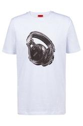 HUGO BOSS - Dusic Cotton T-shirt Vit