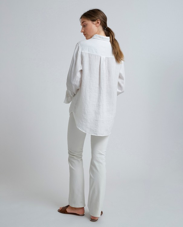 LEXINGTON - Isa Linen Shirt Vit