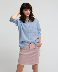 LEXINGTON - Isa Linen Shirt Blå