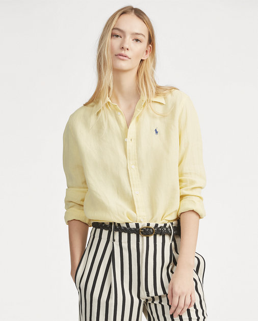 POLO RALPH LAUREN - Relaxed Long Sleeve Shirt Gul