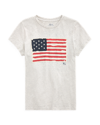 POLO RALPH LAUREN - Flag T-Shirt Grå